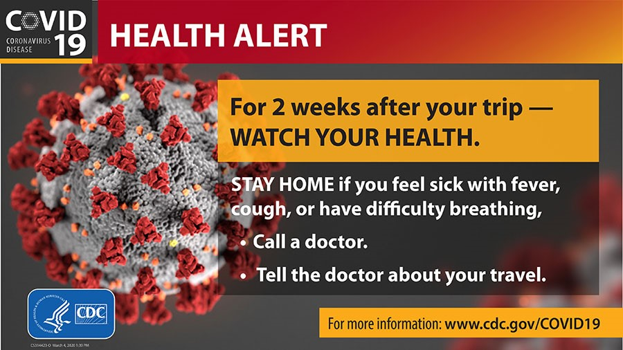 Centers for Disease Control and Prevention Health Alert banner