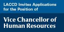 Vice Chancellor Human Resources Application button